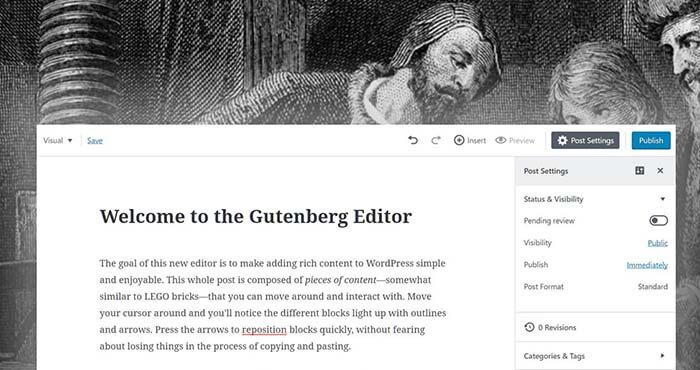 Gutenberg wordpress что это