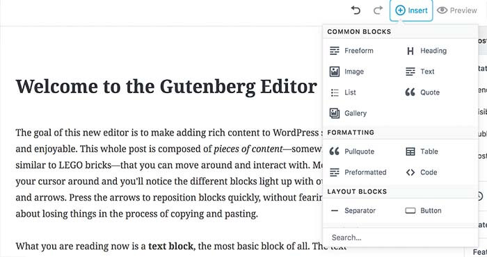 Тестируем Gutenberg wordpress